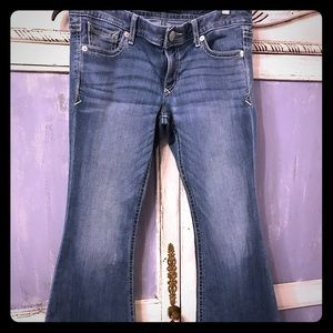 Express 8short bell flare jeans  very nice